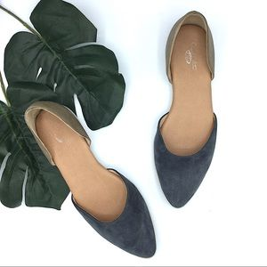 Dr Scholls Suede Pointed Toe Flats 8 Leather